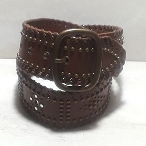 Abercrombie & Fitch wide leather studded belt